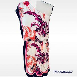 London Times Floral One Shoulder Dress